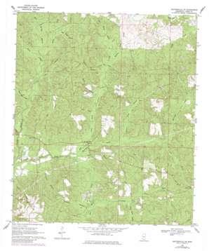 Baxterville Ne topo map