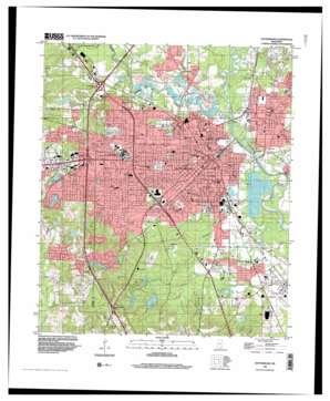Hattiesburg topo map