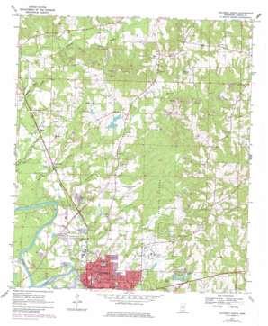 Columbia North topo map