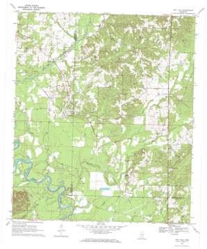 Oak Vale topo map