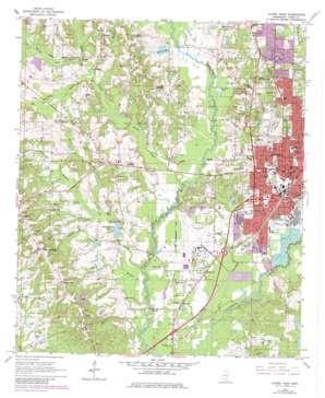 Laurel West topo map