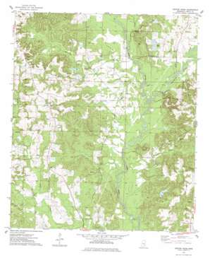 Center Ridge topo map