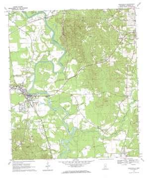 Monticello topo map