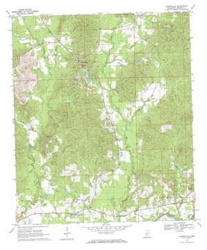 Harrisville topo map