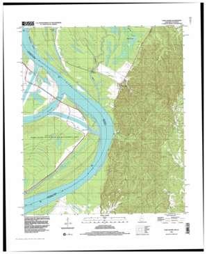 Fort Adams topo map