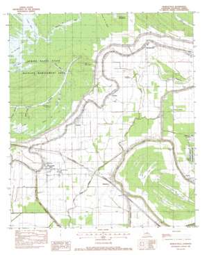 Moreauville topo map