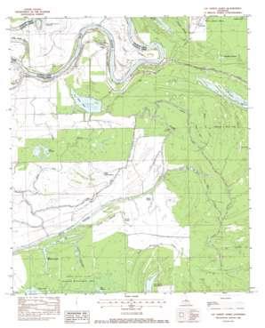 Lac Sainte Agnes topo map