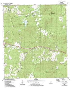 Cranfield topo map