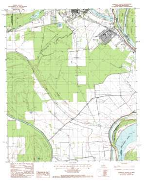 Ferriday South topo map
