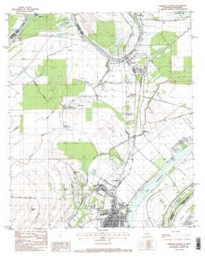 Ferriday North topo map