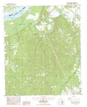 Widows Creek topo map