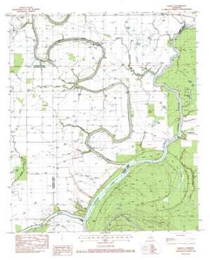 Oakley topo map