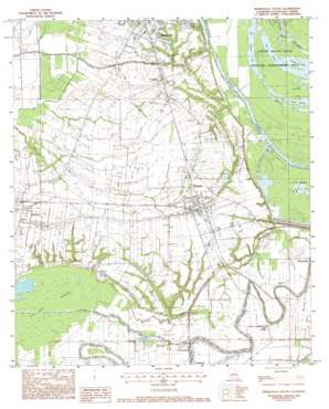 Marksville South topo map