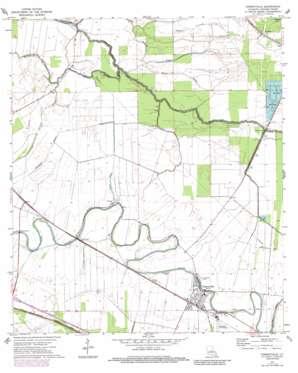 Cheneyville topo map