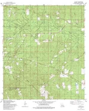Lacamp topo map