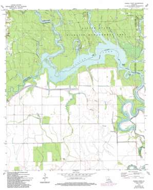 Powell Point topo map
