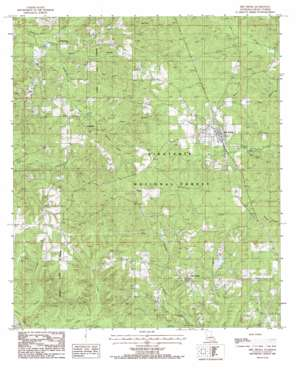 Dry Prong topo map