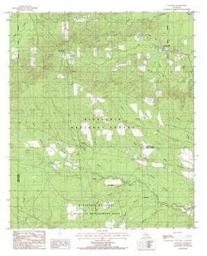 Packton topo map