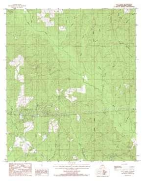 Flat Creek topo map