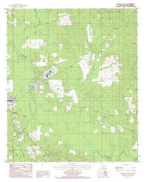 Winnfield East topo map