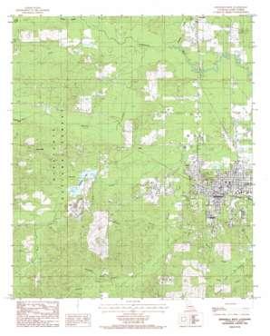 Winnfield West topo map