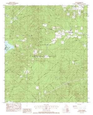 Calvin topo map