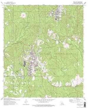Fort Polk topo map