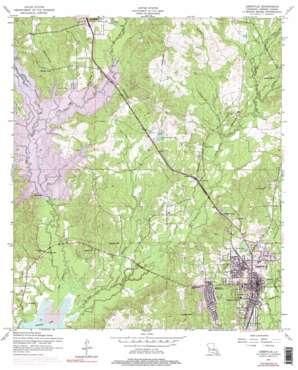 Leesville topo map