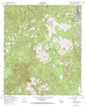 Little Sandy Creek topo map