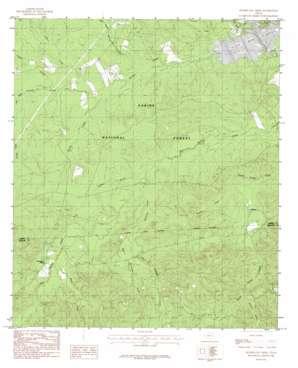 Hurricane Creek topo map