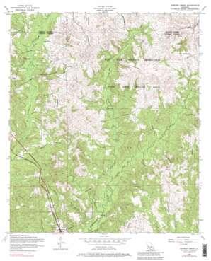 Dowden Creek topo map
