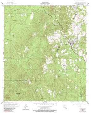 Hornbeck topo map