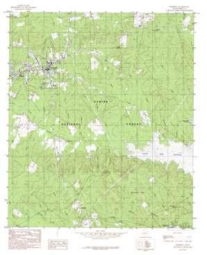Hemphill topo map