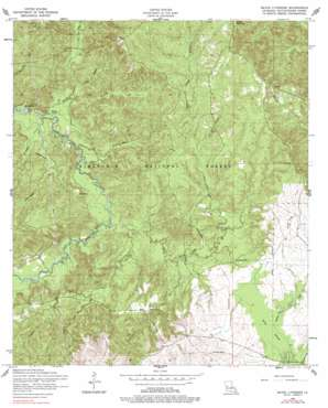 Bayou Livrogne topo map