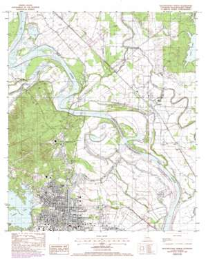 Natchitoches North topo map