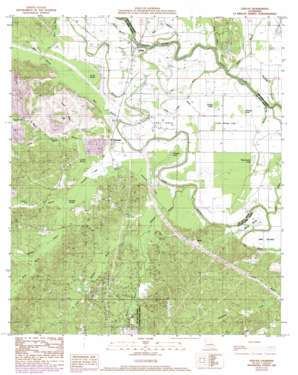Evelyn topo map