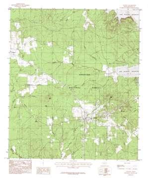 Zavalla topo map