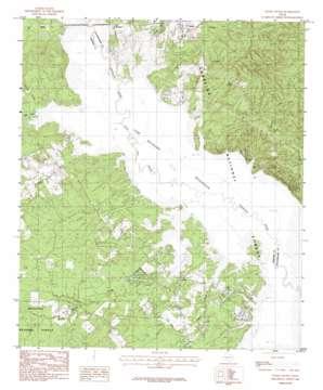 Etoile South topo map