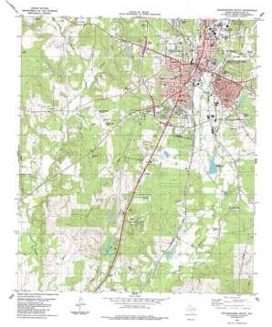 Nacogdoches South topo map