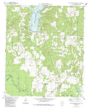 Lake Nacogdoches South topo map