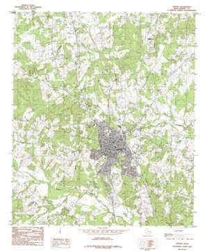 Center topo map