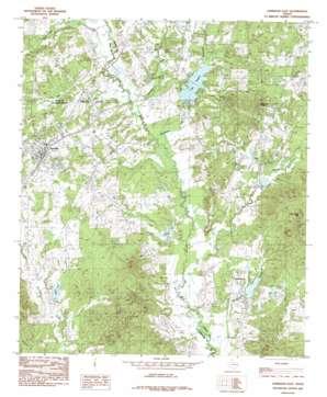 Garrison East topo map
