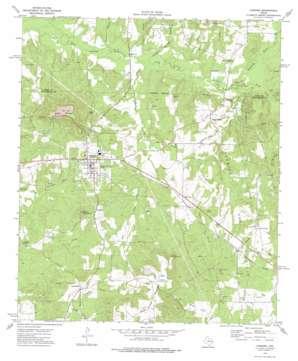 Cushing topo map