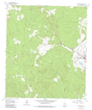 Groveton West topo map