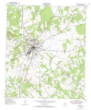 Crockett topo map