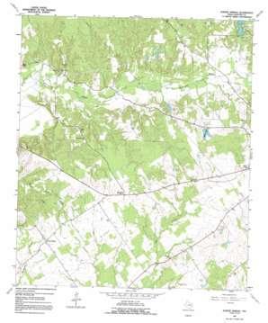 Porter Springs topo map