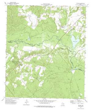Weches topo map