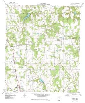 Percilla topo map