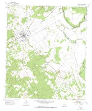 Oakwood topo map