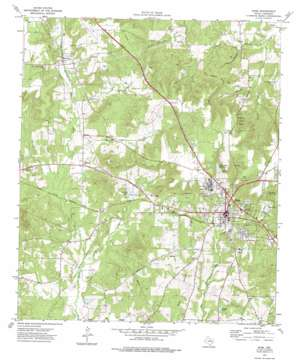 Rusk topo map